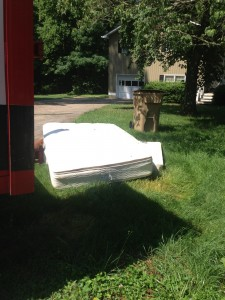 rental property abandoned mattress