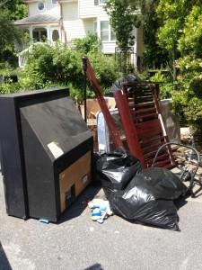 junk left at rental property