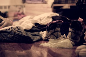dirty laundry and home clutter