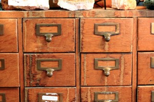 old furniture - apothecary drawers