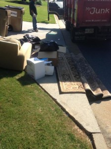 junk on the curb
