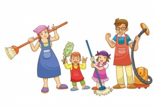 family cleaning + chores