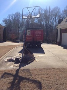 basketball hoop removal