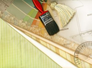color swatches, paintbrush